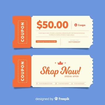 Modèle de chèque-cadeau créatif en vente