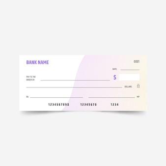 Modèle de chèque vierge dégradé