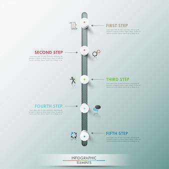 Modèle de chronologie d'infographie moderne