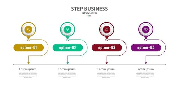 Modèle de chronologie infographique d'entreprise