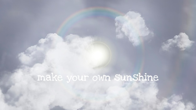 Modèle de ciel de vecteur de halo de soleil pour la bannière de blog