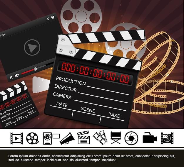 Modèle de cinéma coloré