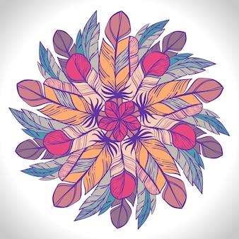 Modèle circulaire de couleur. kaléidoscope rond