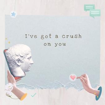 Modèle de citation d'amour esthétique publication sur les réseaux sociaux