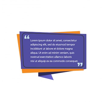 Modèle de citation sur la bulle de dialogue.