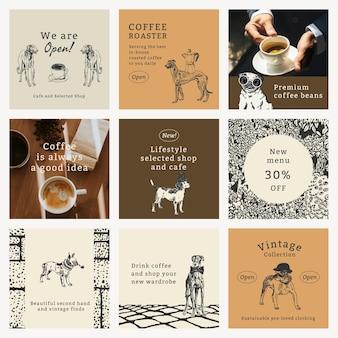 Modèle de citation vintage pour l'ensemble de publications sur les réseaux sociaux, remixé à partir d'œuvres d'art de moriz jung