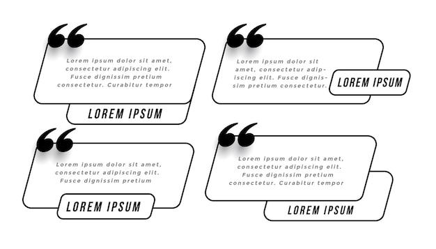 Modèle de citations rapides dans le style de ligne