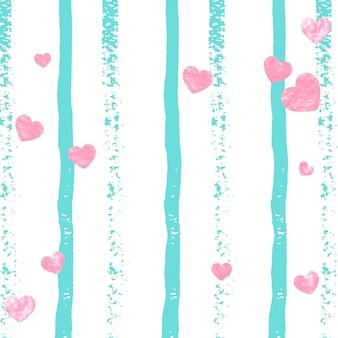 Modèle de coeur. rose save date starburst. peinture grunge turquoise. art festif. élément élégant d'or. stardust de marque à la menthe. particule féminine. modèle de coeur à rayures