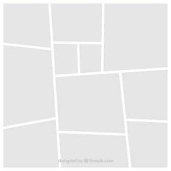 Modèle de collage de cadre photo blanc