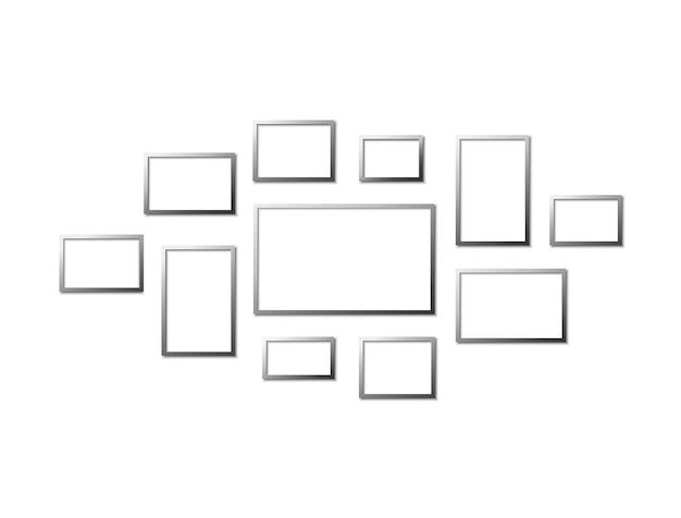 Modèle de collage de cadre photo.