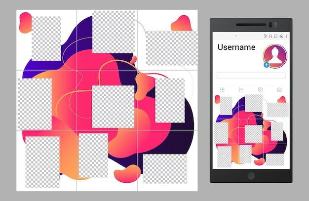 Modèle de collage de médias sociaux