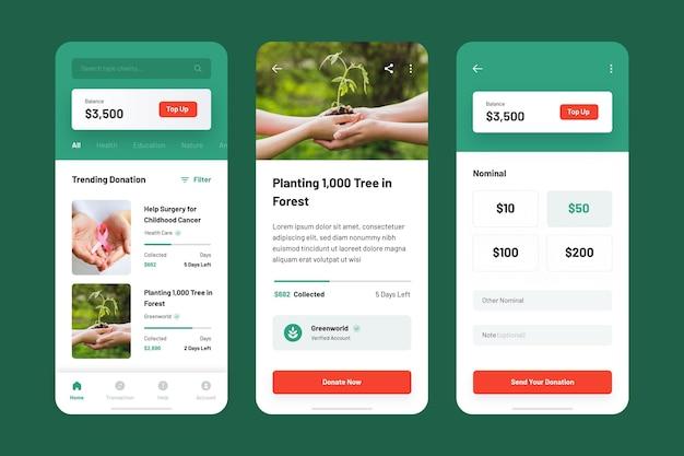 Modèle de collection d'applications de charité