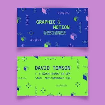 Modèle de collection de carte de visite colorée abstraite