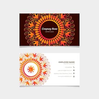 Modèle de collection de cartes de visite mandala