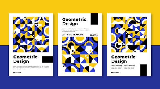 Modèle de collection de couverture d'entreprise géométrique