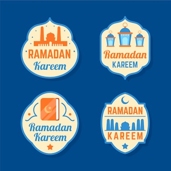 Modèle de collection d'étiquettes de ramadan