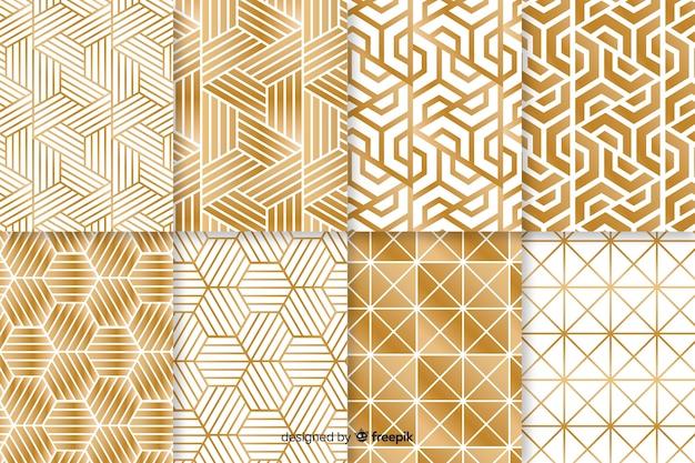 Modèle de collection à la forme géométrique luxueuse