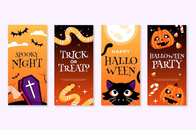 Modèle de collection d'histoires instagram halloween