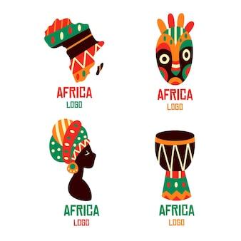 Modèle de collection de logo afrique