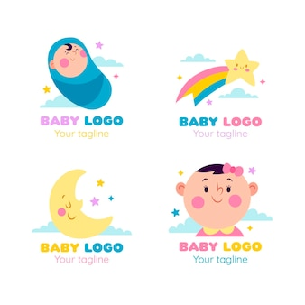 Modèle de collection de logo bébé