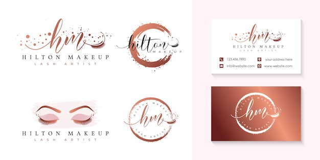 Modèle de collection de logo de cils