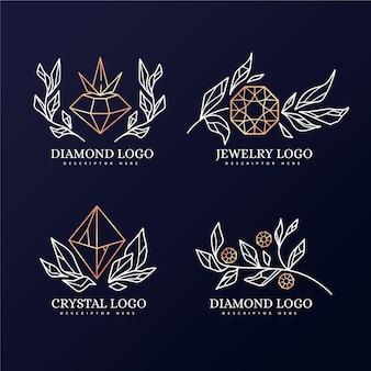 Modèle de collection de logo de diamant