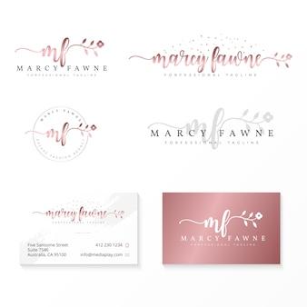 Modèle de collection de logo féminin