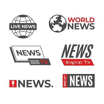 Modèle de collection de logo de nouvelles
