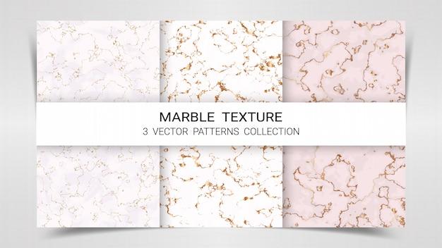 Modèle de collection de modèles de marbre premium set.