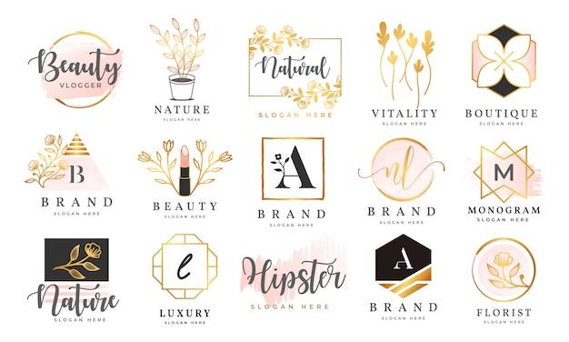 Modèle de collections de logo féminin