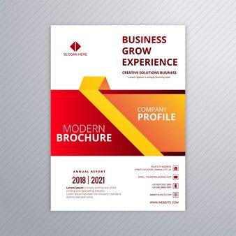 Modèle coloré de brochure professionnelle entreprise
