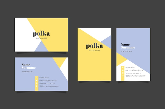 Modèle coloré de carte de visite