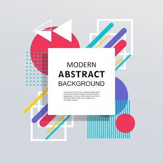 Modèle coloré de memphis géométrique abstrait design plat