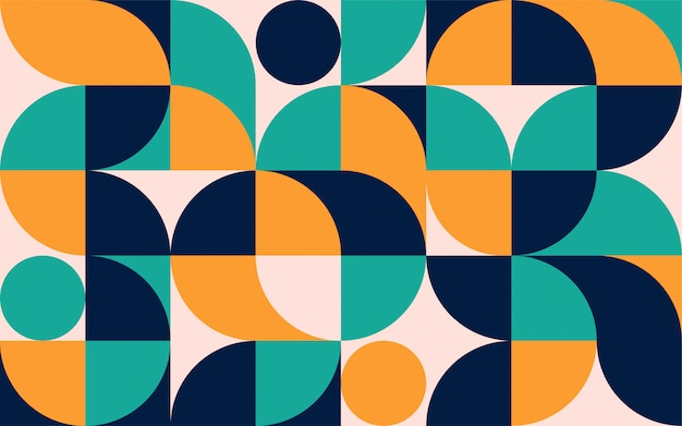 Modèle de composition géométrique de couleur minimaliste avec des formes. modèle abstrait scandinave pour bannière web, emballage, image de marque.