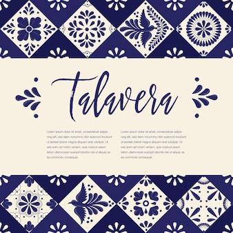 Modèle de composition mexicaine talavera