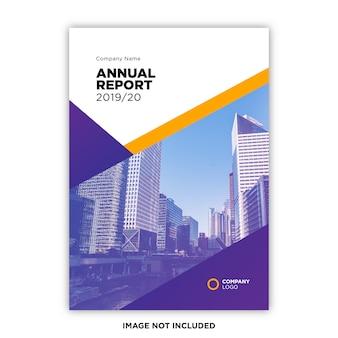 Modèle de concept de couverture de rapport annuel