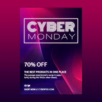 Modèle De Concept Cyber Monday Vecteur gratuit