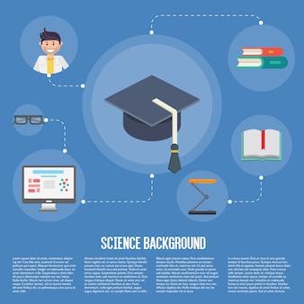 Modèle de concept de l'éducation infographie