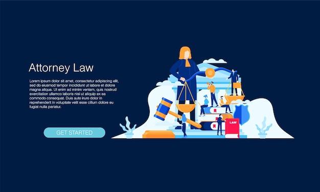 Modèle de concept d'illustration vectorielle de jugement juridique