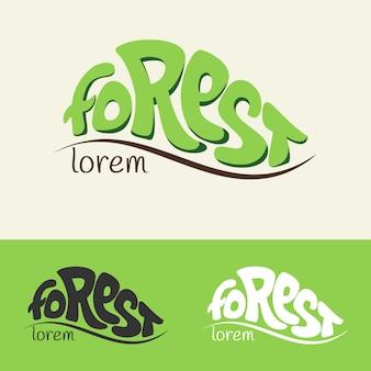 Modèle de concept de logo for rest and forest
