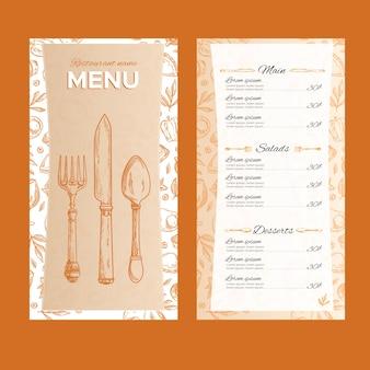 Modèle de concept de menu