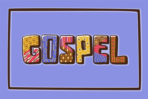 Modèle de concept de mot évangile