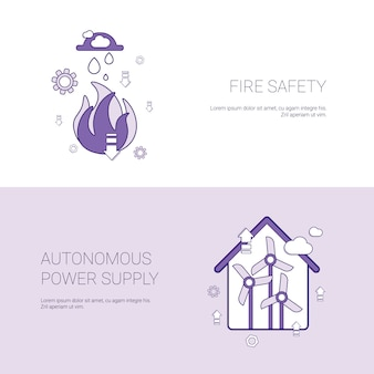 Modèle de concept de sécurité incendie et d'alimentation électrique autonome