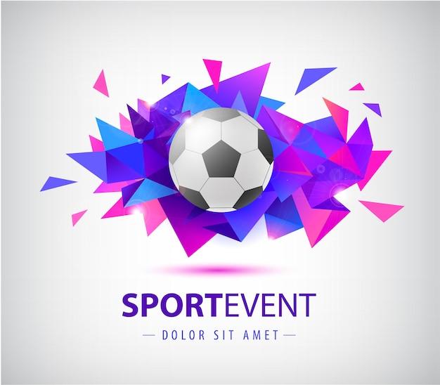 Le modèle de conception abstraite de football de vecteur pour le football couvre des affiches de pancartes de sport de bannières