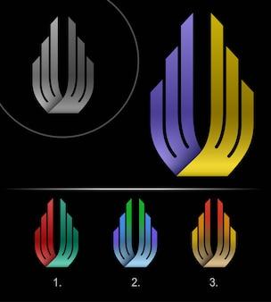 Modèle de conception abstraite de logo business, ruban de logo, modèle de conception abstraite d'entreprise, logotype de l'infini en boucle hi tech, logo d'entreprise de concept créatif,