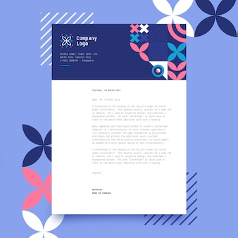 Modèle de conception abstraite de papier à en-tête