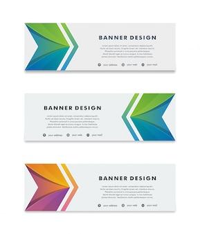 Modèle de conception abstraite vecteur moderne bannière web fond