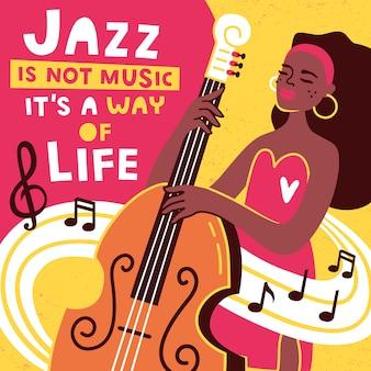Modèle de conception affiche et bannière de festival de musique jazz.