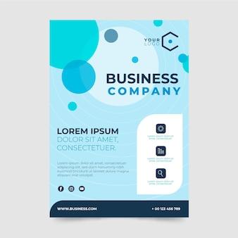 Modèle de conception d'affiche d'entreprise commerciale