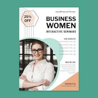 Modèle de conception d'affiche de femme d'affaires